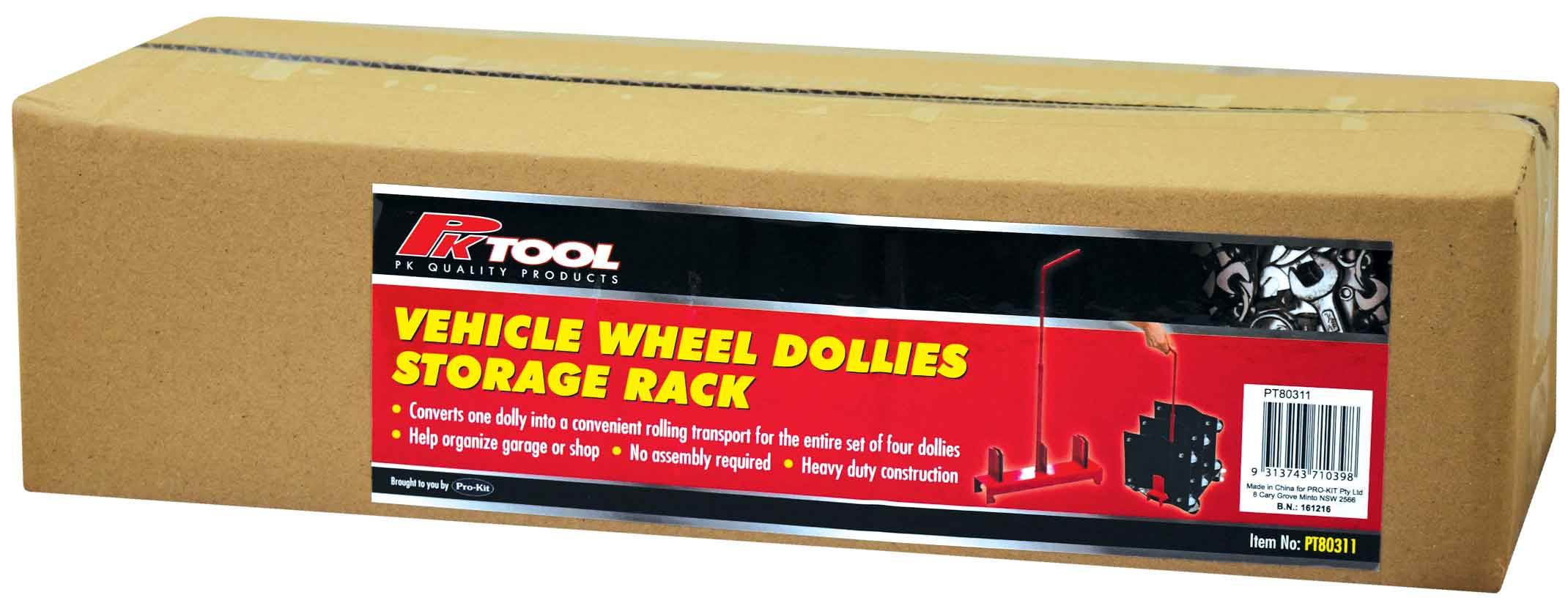PT80311 Vehicle Wheel Dollies Strorage/Transport Rack image 4